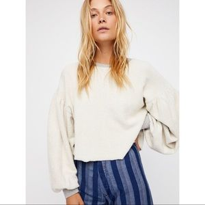 Free People - Sleeves Like These Pullover Top
